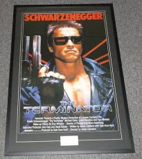 Arnold Schwarzenegger Signed Framed 30x43 Terminator Movie Poster Display JSA