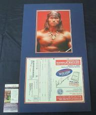 Arnold Schwarzenegger Signed & Matted Official California Sample Voting Ballot