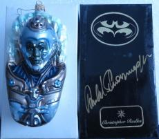 Arnold Schwarzenegger Signed Mr Freeze Christopher Radko Ornament BoxPSA#AA24163