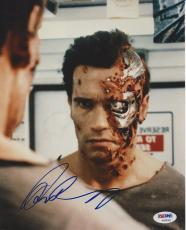 ARNOLD SCHWARZENEGGER Signed TERMINATOR 8x10 PHOTO with PSA COA