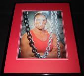 Arnold Schwarzenegger Smoking Cigarette 1985 Framed 11x14 Photo Poster