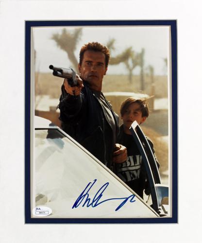 Arnold Schwarzenegger Terminator 2 Signed 8x10 Matted Photo JSA #I00171