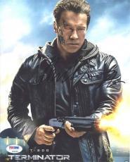 Arnold Schwarzenegger Terminator Genisys Autographed Signed 8x10 Photo PSA/DNA