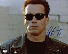 Arnold Schwarzenegger Terminator Signed 11x14 Photo Psa/dna #t18142