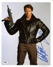 Arnold Schwarzenegger Terminator Signed 11X14 Photo PSA/DNA #T76062