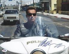 Arnold Schwarzenegger Terminator Signed 11x14 Photo Psa/dna #u51793