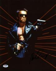 Arnold Schwarzenegger Terminator Signed 11X14 Photo PSA/DNA #W77937