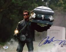 Arnold Schwarzenegger Terminator Signed 11X14 Photo PSA/DNA #W77957