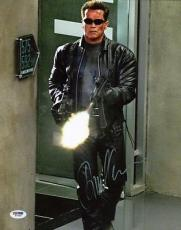 Arnold Schwarzenegger Terminator Signed 11X14 Photo PSA/DNA #W77958