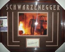 Arnold Schwarzenegger Terminator Signed 8x10 Jsa Coa Double Matted & Framed B