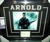 Arnold Schwarzenegger Terminator Signed Autographed Jsa Coa Matted & Framed B