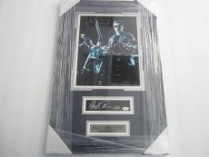 Arnold Schwarzenegger Terminator signed cut autograph framed matted JSA COA
