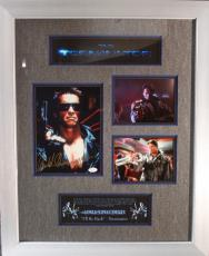 ARNOLD SCHWARZENEGGER (Terminator) signed/ framed display-JSA Letter