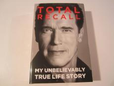 Arnold Schwarzenegger Total Recall Signed Autoggraphed hard Cover Book JSA COA