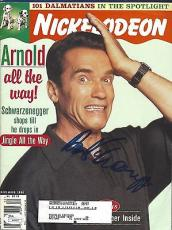 Arnold Schwarznegger Signed Nickelodeon Seinfeld Magazine JSA COA