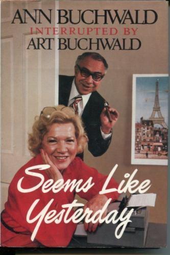 Art & Ann Buchwald Humorist Autho Signed Autograph 1st Edition Hardback Book