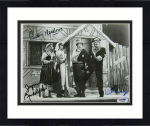 Art Carney Audrey Meadows Joyce Randolph Signed 8x10 Honeymooners Photo PSA/DNA