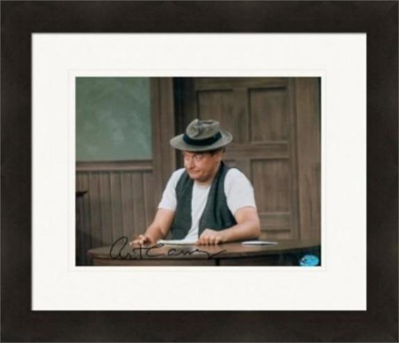 Art Carney autographed 8x10 Photo color (The Honeymooners - Norton) Matted & Framed