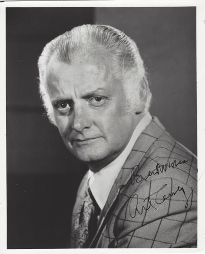 "ART CARNEY - Best Known for Playing ED NORTON on TV Series ""THE HONEYMOONERS"" -Signed 8x10 B/W Photo"