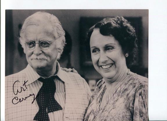 Art Carney Autographed Picture - Jean Stapleton Rare