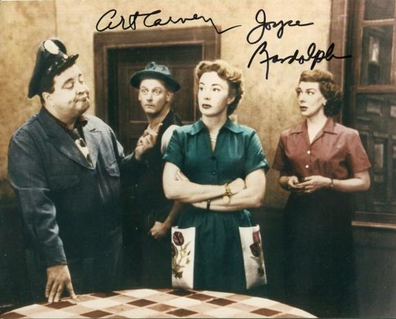 Art Carney Joyce Randolph The Honeymooners Rare Signed Autograph Photo