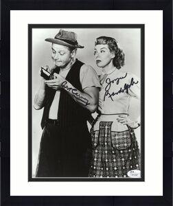 ART CARNEY+JOYCE RANDOLPH HAND SIGNED 8x10 PHOTO      THE HONEYMOONERS      JSA
