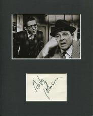 Arte Johnson The Twilight Zone The Whole Truth Signed Autograph Photo Display