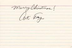 Arthur Art Fry Signed 4x6 Index Card Autographed Inventor Post It Note PSA