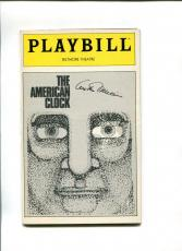 Arthur Miller The American Clock Opening Night Rare Signed Autograph Playbill