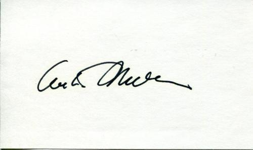 Arthur Miller Author Playwright The Crucible Tony Winner Signed Autograph