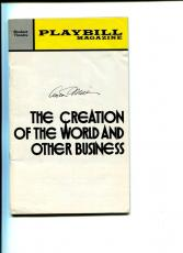 Arthur Miller The Creation Of World And Other Business Signed Autograph Playbill