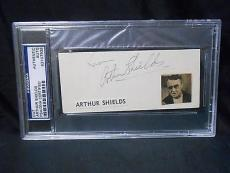 ARTHUR SHIELDS (d) 1970 RARE SIGNED AUTO 2.5X5 CUT  INDEX CARD PSA/DNA 83107938