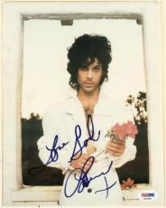 Artist Prince Rogers Nelson ULTRA RARE Signed Autographed 8x10 Photo PSA/DNA