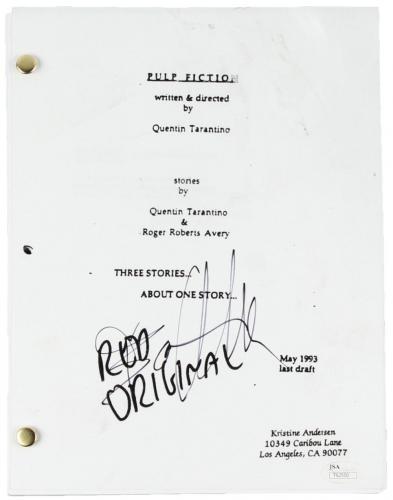 AS-IS Bruce Willis Signed Pulp Fiction Full Movie Script JSA