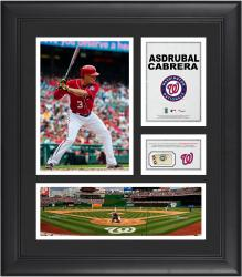 Asdrubal Cabrera Washington Nationals Framed 15'' x 17'' Collage with Piece of Game-Used Ball
