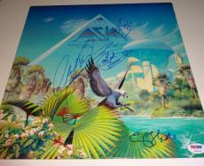 "ASIA Band All 4 Signed Autographed ""Alpha"" Album LP PSA/DNA #U00123"