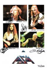 Aisa Group Signed Authentic Autographed 8.5x11.5 Photo 4 Sigs PSA/DNA #W02971