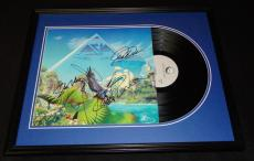 Asia Group Signed Framed 1983 Alpha Record Album Display