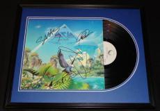 Asia Group Signed Framed 1983 Alpha Record Album Display JSA B