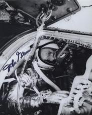 Astronaut John Glenn Hand Signed Autographed Bw Photo