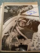 "Astronaut John Glenn Hand Signed Autographed Bw Photo ""to Dave"