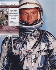 Astronaut John Glenn Hand Signed Autographed Color Photo Jsa Coa Spence