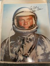 "Astronaut John Glenn Hand Signed Autographed Color Photo ""to Bob"