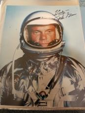 "Astronaut John Glenn Hand Signed Autographed Color Photo ""to Cindy"