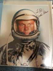 "Astronaut John Glenn Hand Signed Autographed Color Photo ""to Ed"