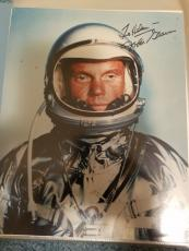 "Astronaut John Glenn Hand Signed Autographed Color Photo ""to Helen"