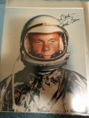 "Astronaut John Glenn Hand Signed Autographed Color Photo ""to John"
