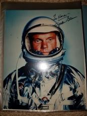 "Astronaut John Glenn Hand Signed Autographed Color Photo ""to Karen"