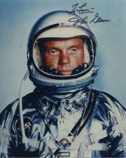 "Astronaut John Glenn Hand Signed Autographed Color Photo ""to Lou"