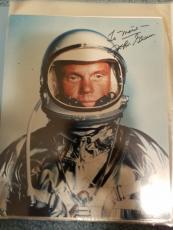 "Astronaut John Glenn Hand Signed Autographed Color Photo ""to Marie"